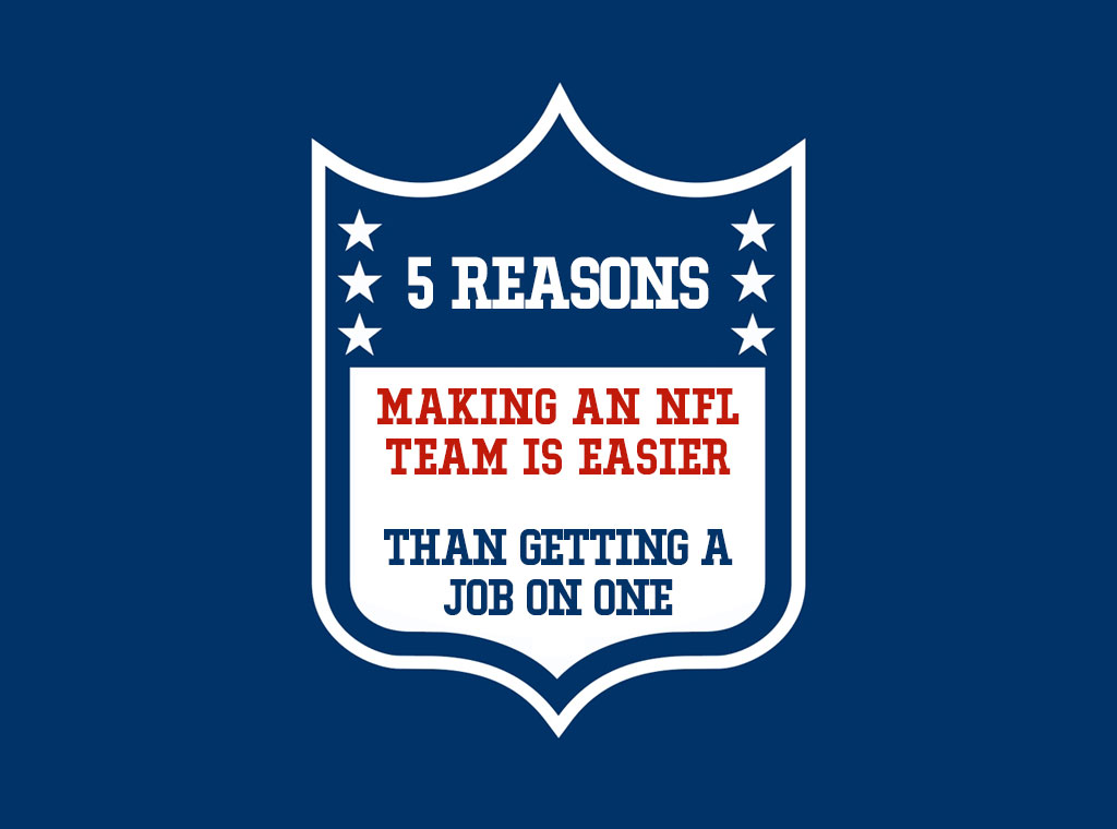 5 Reasons Making an NFL Team Is Easier Than Getting a Job on One